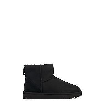 Ugg women's UGSCLMBK1016222W black leather ankle boots