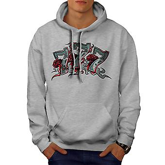 Game Gamble Poker Gamble Men GreyHoodie | Wellcoda