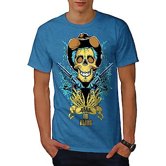 Dead Or Alive Pistole Männer Royal BlueT-Hemd   Wellcoda