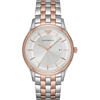 Armani Watches Ar11044 Rose Gold & Silver Stainless Steel Men's Watch