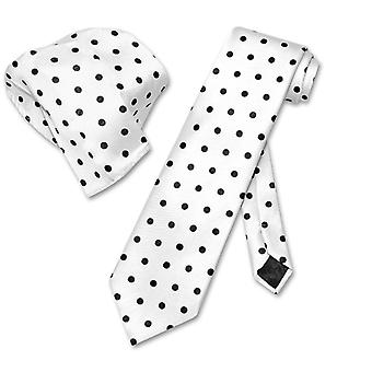 Vesuvio Napoli w/ Polka Dots NeckTie Handkerchief Matching Tie Set