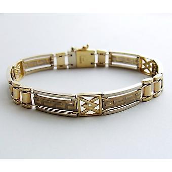 Christian bicolor gouden armband