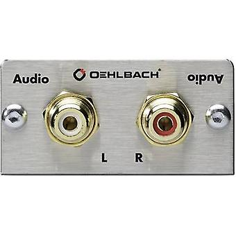 RCA stereo (R/L) Multimedia inset + solder lugs Oehlbach PRO IN