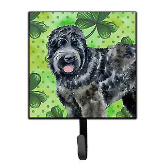 Black Russian Terrier St Patrick's Leash or Key Holder