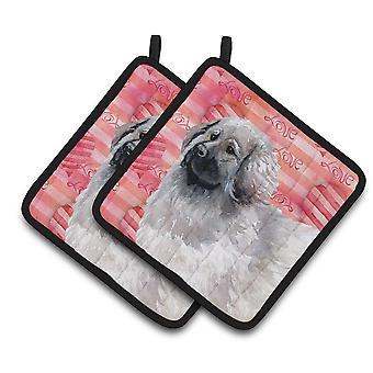 Carolines Treasures  BB9760PTHD Moscow Watchdog Love Pair of Pot Holders