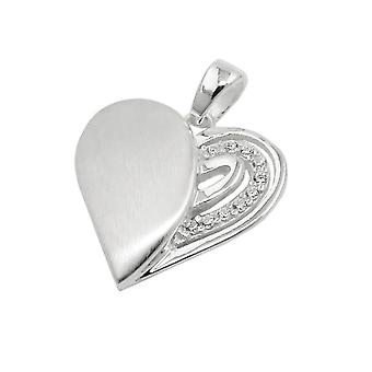Pendant heart with zirconia silver 925