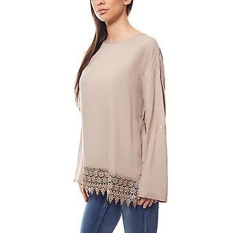 BOYSEN BB´s ladies lace blouse oversize gray