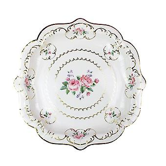 Truly Chintz Vintage Floral Paper Plates Pack of 8 Tea Party