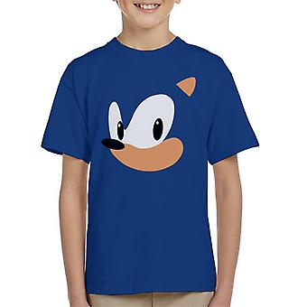 Sonic The Hedgehog portret Kid's T-Shirt