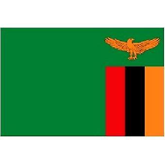 Zambias flagg 5 ft x 3 ft med Jer.