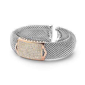 Orphelia Silver 925 Bangle Bicolor Pave Zirc  ZA-7162