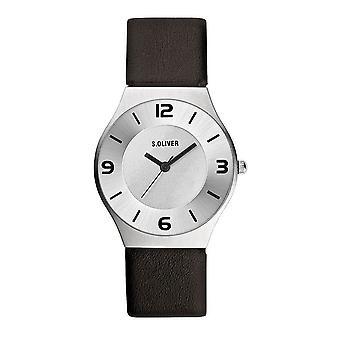 s.Oliver Herren Uhr Armbanduhr Leder SO-1980-LQ