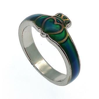 Glass Enamelled Celtic Claddagh #1 Colour Change Mood Ring
