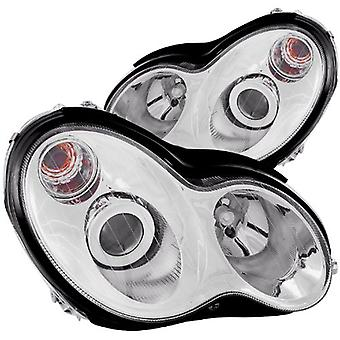 Anzo USA 121239 Mercedes-Benz Chrome Projectors Headlight Assembly - (Sold in Pairs)