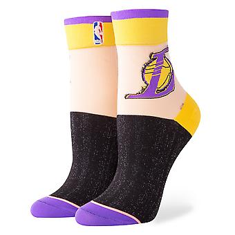 Stance Lakers Anklet NBA Socks - Yellow