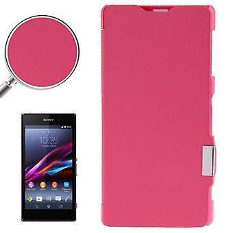 Borsa custodia mobile per Sony Xperia Z1 / L39h rosa satinato