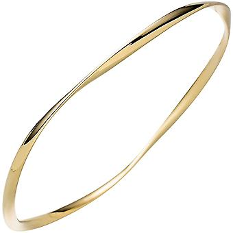 Bangle Bracciale 925 in argento placcato oro