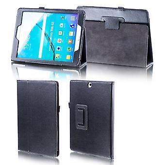 Für Samsung Galaxy Tab A 10.5 T590 T595 Schwarz Kunstleder Hülle Cover Tasche Case Neu