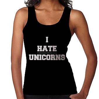 I Hate It When People Dont Believe In Unicorns Slogan Women's Vest