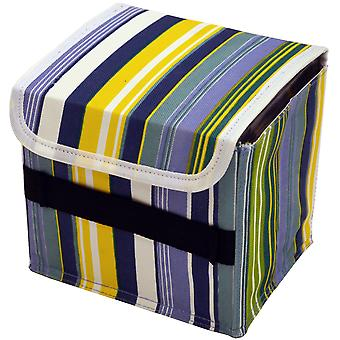 Stripe - Wall Mounted Canvas 66 Cd Storage Boxes For Cd / Toys / Toiletries