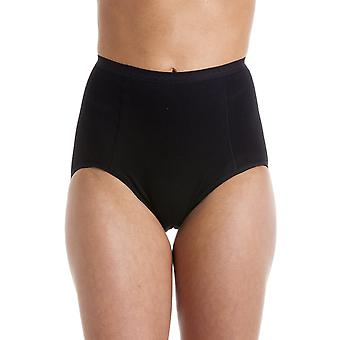 Camille Womens Black High Waist Two Pack Control Briefs
