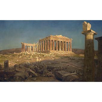 The Parthenon, Frederic e. Church, 40x60cm with tray