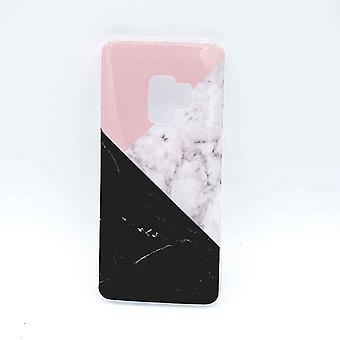 Für Samsung S9 – Fall – 3 Ecke Marmor rosa