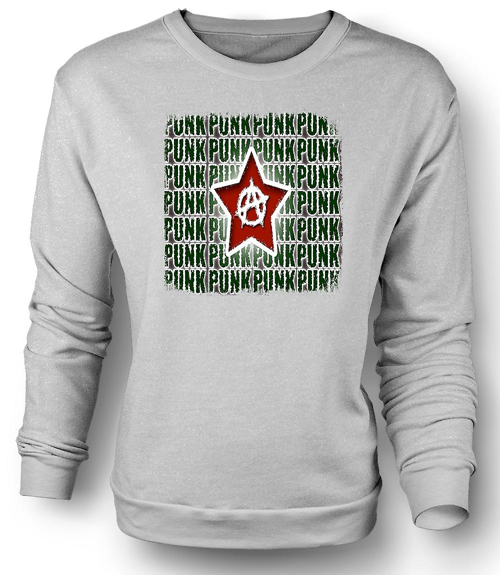 Mens Sweatshirt Punk Rock anarki - Design