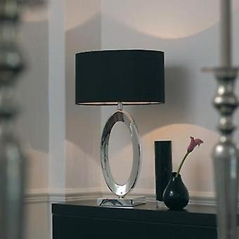 Endon NERINO Cast Metal Silver Table Lamp With Shade