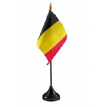 Belgium Table Flag with Base and Stick