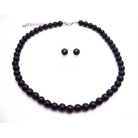 Black Pearls Wholesale Jewelry Under $10 Bridesmaid Necklace Set
