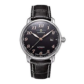 Zeppelin Clock automatic men's watch with leather WM-JA005-MT