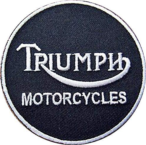 Triumph iron-on/sew-on cloth patch  (ff round)