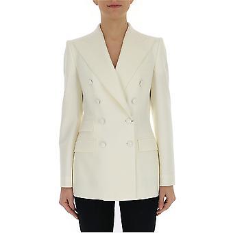 Dolce E Gabbana White Silk Blazer