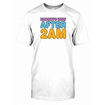 Nobody's Ugly After 2am - Funny Quote Mens T Shirt