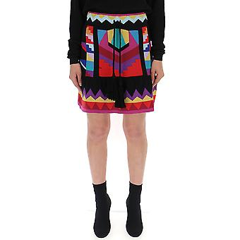 Laneus Multicolor Cotton Skirt