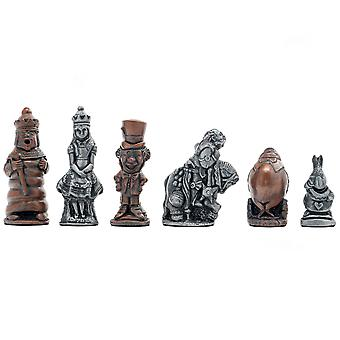 Berkeley Chess Alice in Wonderland Metallic Chess Men