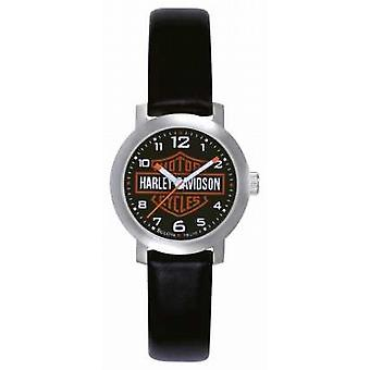 Harley Davidson Womens Black Leather Strap 76L10 Watch