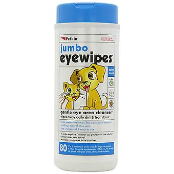 Jumbo Eye wipes Eye area cleanser or Cats & Dogs (80)