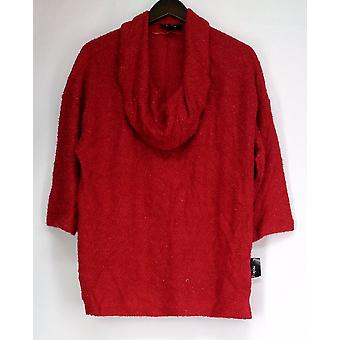 Style & Co. Plus Sweater 3/4 Sleeve Cowl Neck w/ Shimmer Detail Womens