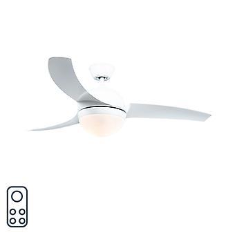 QAZQA plafond ventilator Bora wit