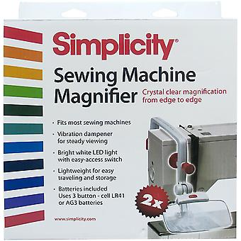 Sewing Machine Magnifier-White & Red 55501020