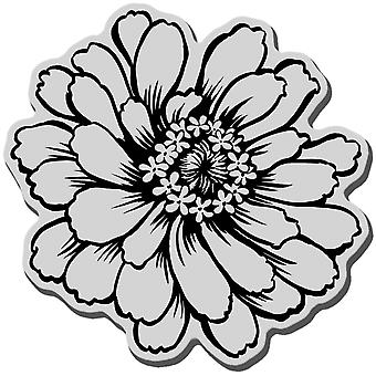 Stampendous Cling Rubber Stamp Zinnia Crq170