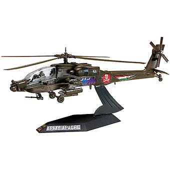 Plastic Model Kit Ah 64 Apache Helicopter Desktop 1:72 85 1183