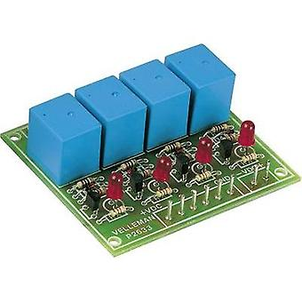 Velleman K2633 canal 4 Relay Board Kit, 9Vdc, 300mA