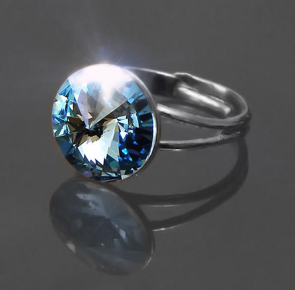 Ring with Aquamarine Crystal RMB 1.2