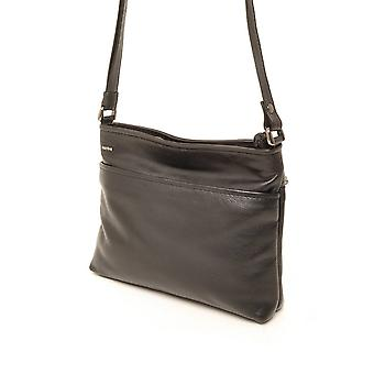 Berba Soft cross-over zipper bag 005-330 Black
