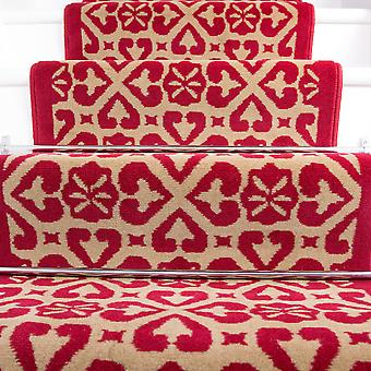 60cm Width - Traditional Moroccan Red Stair Carpet