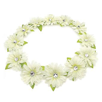 White Colour 5cm Flower Crown Garland Summer Headband Bridesmaid Wedding Festival