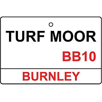 Burnley / Turf Moor Street Sign Car Air Freshener